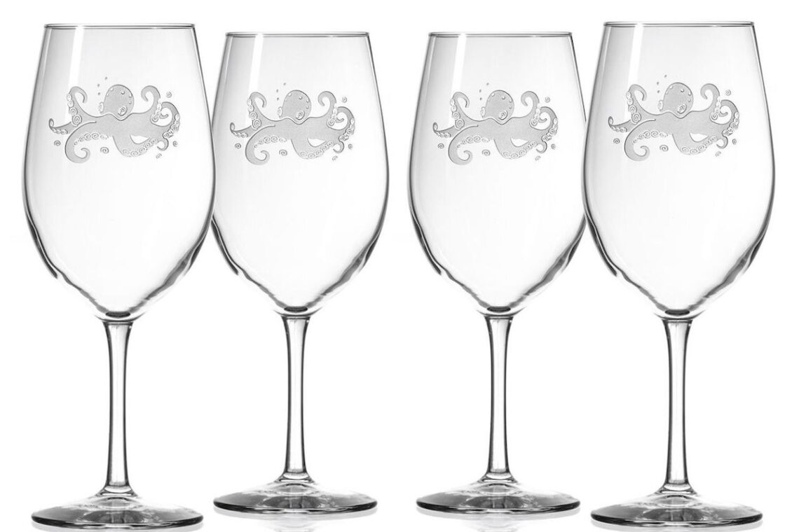 Octopus wine glasses