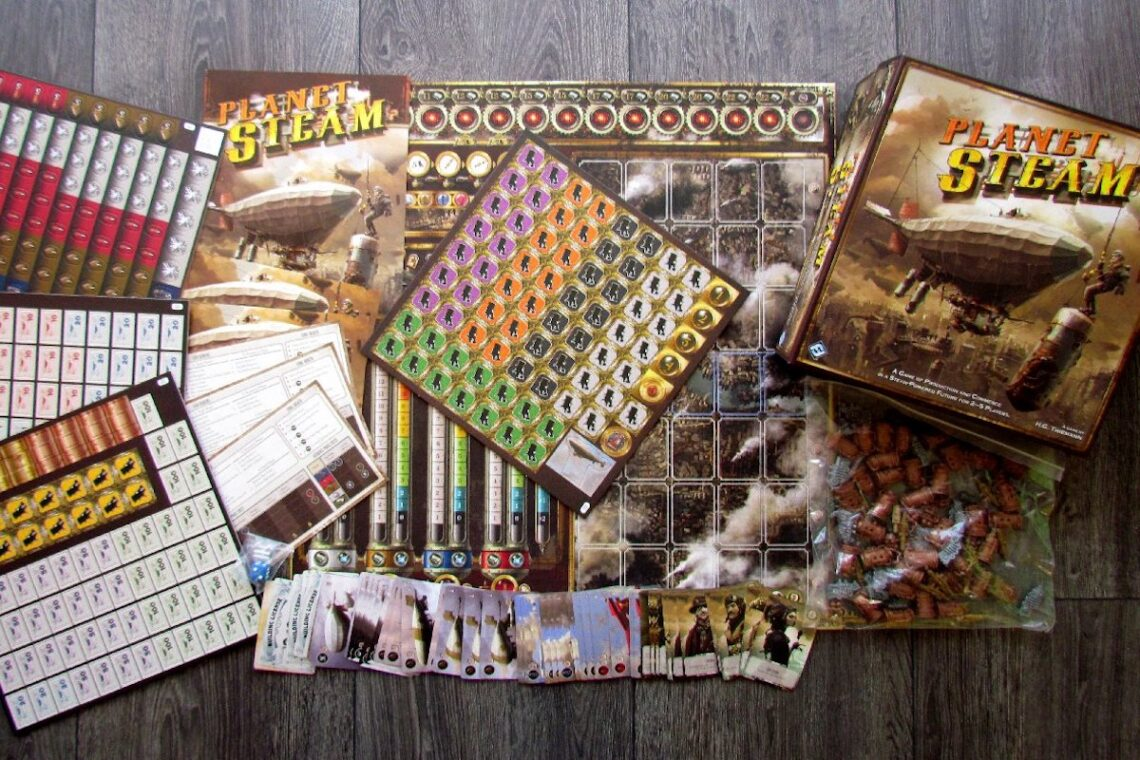 steampunk board games planet steam